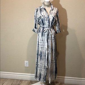 Lulus Tie-Dye Snap Button Dress (L)